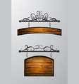 hanging wooden board wooden object for vector image vector image