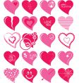 heart set vector image vector image
