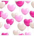 heart shaped balloons white background seamless vector image
