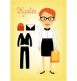 Hipster character elements for business woman vector image vector image