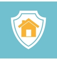 house shape icon vector image vector image