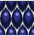 ikat seamless pattern vector image