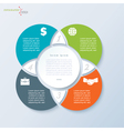 Infographic template for business presentation vector image vector image