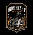 iron heart vector image vector image