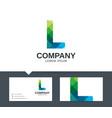 letter l - logo design vector image vector image