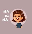 little girl laughing cartoon
