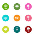 locomotion icons set flat style vector image vector image