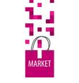 logo shopping bag Tetris vector image vector image
