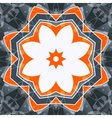 Mandala orange swadhisthana lotus flower symbol vector image