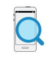 Modern smartphone interface Find information vector image vector image