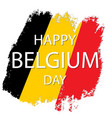 national day of belgium vector image