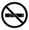 no smoking icon simple style vector image vector image
