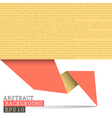 Paper origami background vector image vector image
