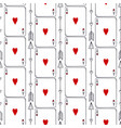 playing cards seamless pattern ace hearts vector image