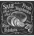 potato potatoes logo design template vector image vector image