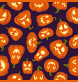 pumpkin pattern seamless halloween background vector image vector image