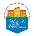 Real Estate Emblem vector image