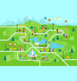 rest in park map infographic elements in flat vector image vector image
