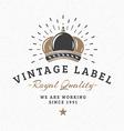 Royal Crown Vintage Retro Design Elements for vector image