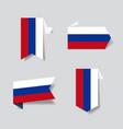russian flag stickers and labels vector image vector image