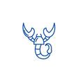 scorpio zodiac sign line icon concept scorpio vector image vector image