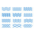 sea wave outline elements vector image vector image