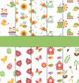 Set of 10 seamless patterns of spring vector image
