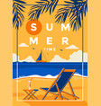 summer background flat design summer time vector image vector image