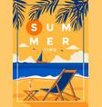 summer background flat design time vector image vector image