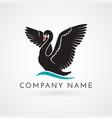 swan logo sign emblem-22 vector image
