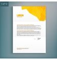 Template for advertising and corporate identity vector image