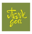 Thank you text lettering vector image vector image