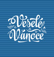 vesele vanoce xmas in the czech republic vector image vector image