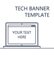 Web Banner with Notebook vector image