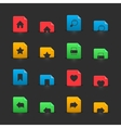 website interface buttons on moving stubs vector image