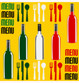 Wine or Restaurant Menu vector image vector image