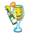 with beer mimosa mascot cartoon style vector image