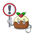 with sign fruit cake character cartoon vector image
