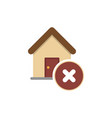 wrong house icon vector image vector image