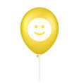 yellow smile printed balloon vector image vector image