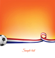 netherlands background with soccer ball vector image
