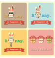 Easter rabbits and eggs vector image