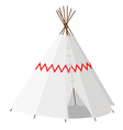Wigwam with pattern vector image