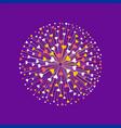disco ball heart vector image