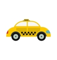 Yellow taxi icon vector image