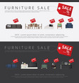 banner furniture sale advertisement flayers vector image