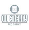barrel oil logo simple gray style vector image vector image