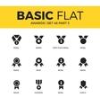 basic set of awards icons vector image