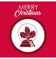 Berry and leaves of Merry Christmas design vector image vector image