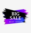 big sale banner with gradient paint strokes best vector image vector image
